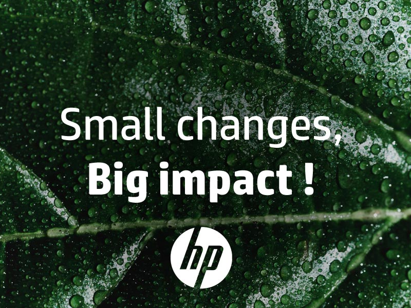 HP grootformaat printkoppen en cartridges worden duurzamer